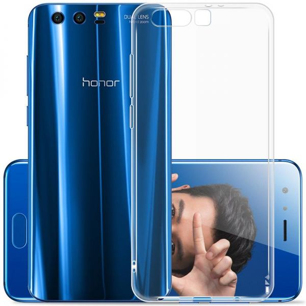 uk availability ccc6b aab14 Huawei Honor 9 Case, DOWIN Soft TPU Case Crystal Clear Transparent Slim  Anti Slip Case Back Protector Cover for Honor 9