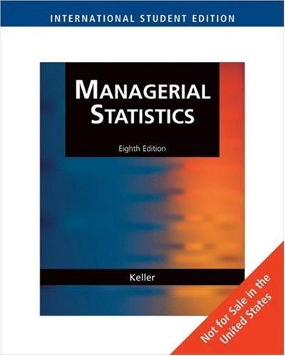 Managerial Statistics ‫(with CengageNOW Access Card) 8E ,Ed. :8