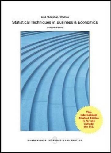 Statistical Techniques in Business and Economics: International Edition ,Ed. :16