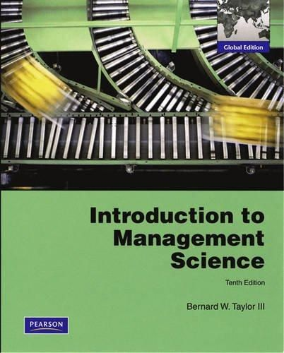 Introduction to Management Science ,Ed. :10