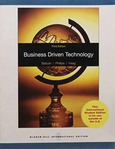 Business Driven Technology with Misourc ,Ed. :3