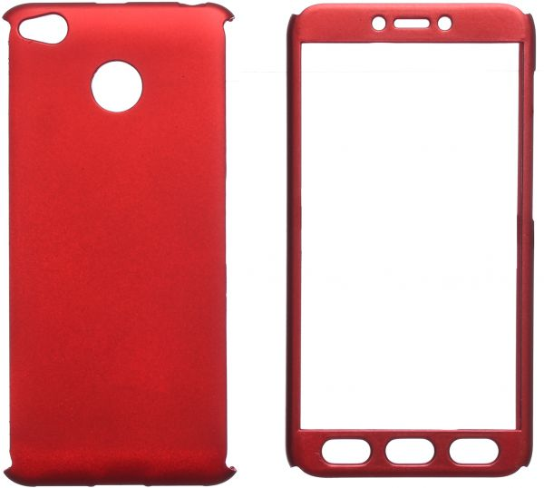 reputable site 2fbe7 13435 360 Case Full Cover For Xiaomi Redmi 4X, Red