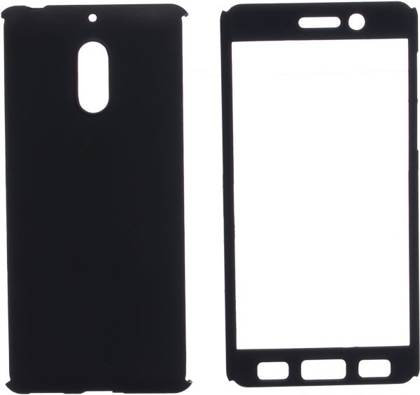 purchase cheap d3afa ce831 360 Case Full Cover For Nokia 6, Black