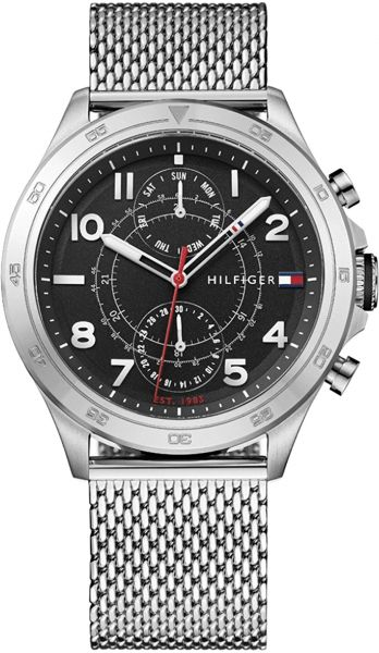 3fe7e270 Tommy Hilfiger Hudson Men's Black Dial Stainless Steel Band Watch -  1791342. by Tommy Hilfiger, Watches -. 50 % off