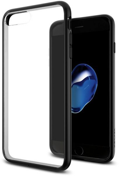 brand new 01bc8 71ae6 Spigen iPhone 8 PLUS, 7 PLUS, Ultra Hybrid Case, Crystal Clear Black Frame