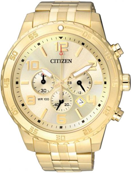 b511d097ae6 Citizen Men s Gold Dial Stainless Steel Band Watch - AN8133-55P ...