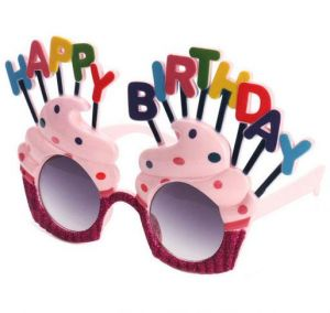 Funny Decorative Ice Cream Shaped Happy Birthday Glasses Novelty Costume Sunglasse For Gift Party Supplies Decoration
