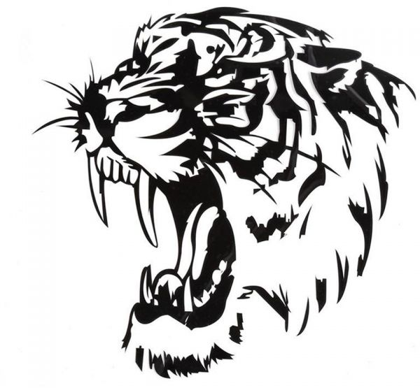 Sticker Design For Motorcycle >> Reflective Car Sticker Decals TIGER Head Hood Of Car And Motorcycle Side Car Stickers Steller ...