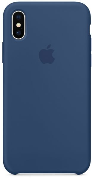 huge selection of 235a5 ec7c4 Apple iPhone X Silicone Case - Blue Cobalt, MQT42ZM/A