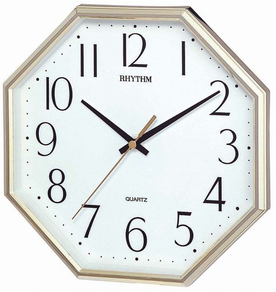 Rhythm Cmg725Br18 Basic Wall Clock Golden price review and buy
