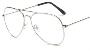 bb3abfd9ca silver Fashion alloy Round Eyeglasses Frame Spectacles Glasses LQFF006