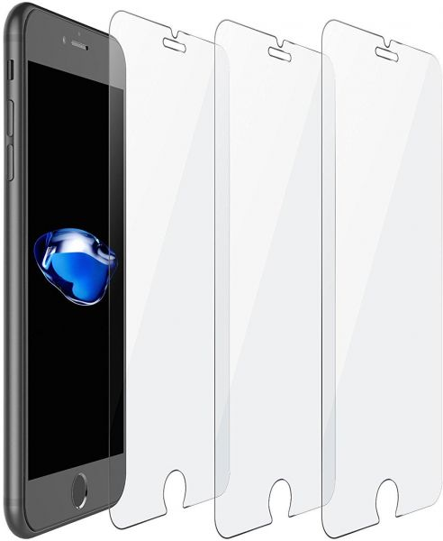the best attitude f277a b5f6f iPhone 8 Screen Protector, 3 Pack iPhone 8 Tempered Glass Screen Protector  Cover High Defintion (HD) Easy Install Screen Protector for Apple iPhone 8  ...