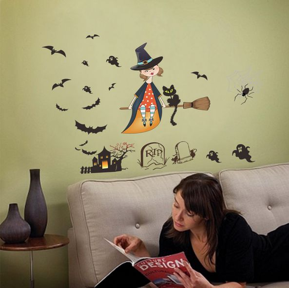 Souq | Halloween lovely witch horror ghost castle living room ...