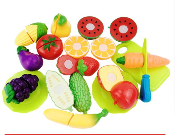 16pcs Set Vegetables Fruit Baby Kitchen Toy Set For Kids Early Learning Education Food Cutting Classic Toys