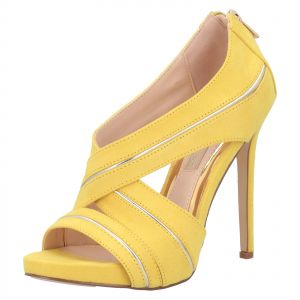 c378d0be6ee Primadonna Collection Yellow Heel Sandal For Women