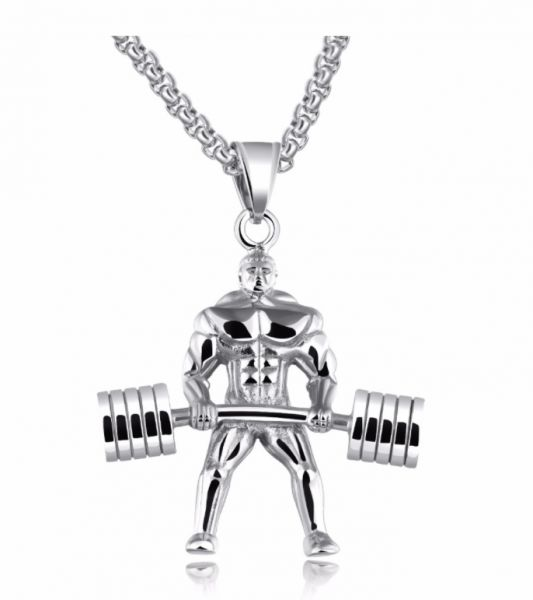 steel dumbbell item i jewelry weightlifting stainless aed ae pendant fitness mens jewellery colar hercules necklaces gym xl buy sport en men necklace