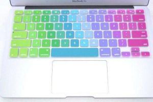 Gorgeous Rainbow Multi Color Series Silicone Keyboard Cover Skin Macbook Air 13 Inch Macbook Pro 13.3 15 17 Inch (awd)
