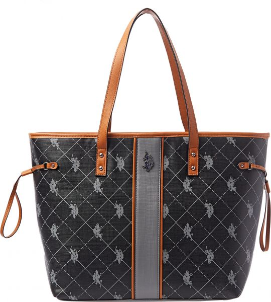 U.S. Polo Assn. Tote Bag for Women - Black  1b2b1b3c8fba8