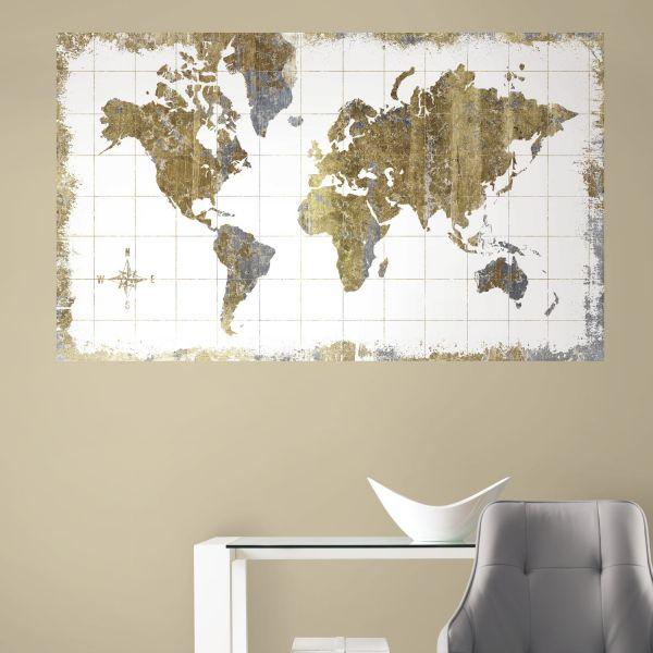 Roommates rmk3436psm gold world map peel and stick wall mural price roommates rmk3436psm gold world map peel and stick wall mural gumiabroncs Images