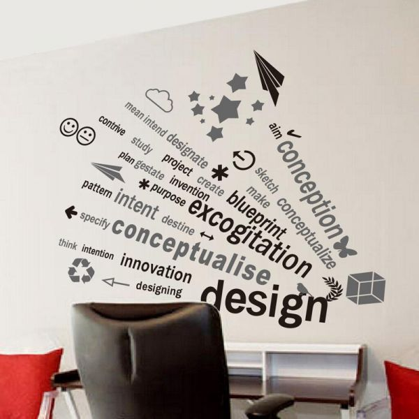 office wall decals, home decor, waterproof wall stickers | souq - uae
