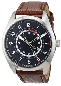 3d3b60e75 Sale on tommy hilfiger men s silver dial leather band watch 1710294 ...