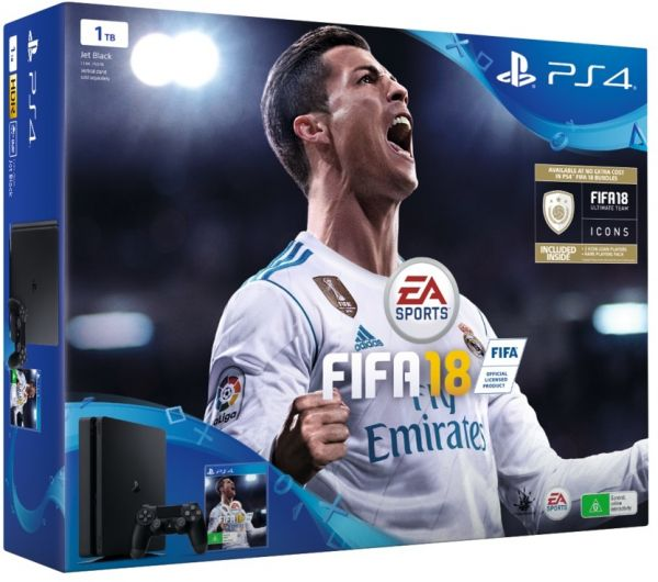 Sony Playstation Tb Slim With Extra Controller Fifa  Icons Bundle