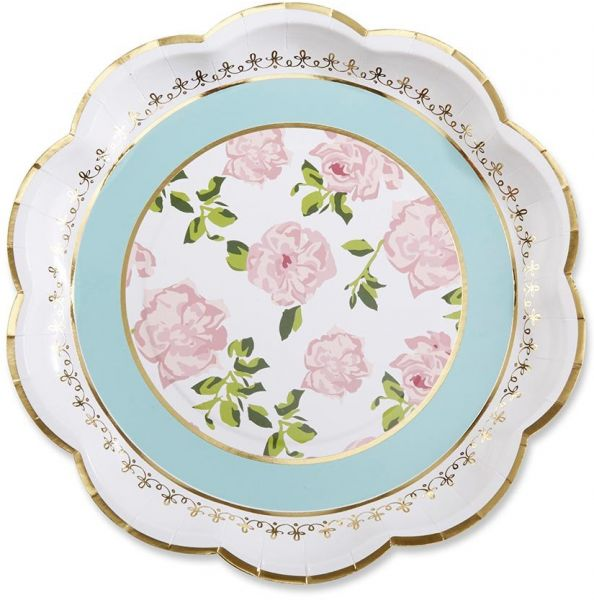 Paper Plates For Wedding | Kate Aspen Tea Time Whimsy Paper Plates Wedding Disposable