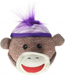 MULTIPET INTERNATIONAL 4 Sock Pal Monkey Head Dog Toy In Assorted Colors Variable Size