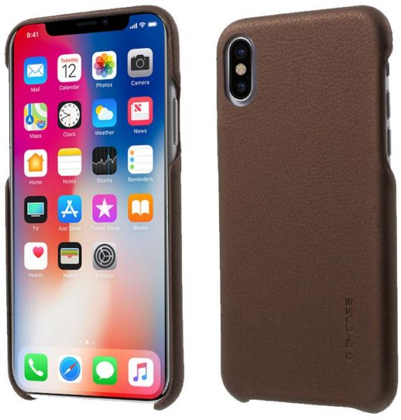 Apple iPhone X G-Case Noble Series Back Case Cover - Brown