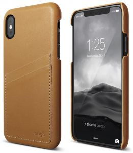 elago cover iphoneX S8 genuine leather - Brown