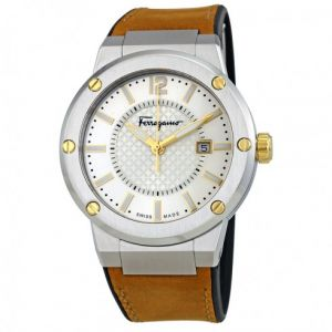 175893201 Salvatore Ferragamo Dress Watch For Men Analog Leather - FIF080016