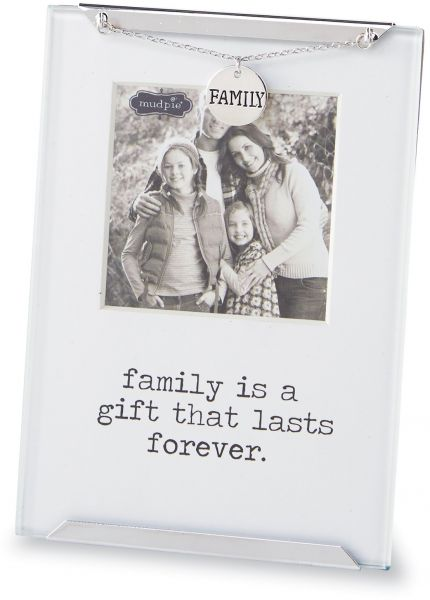 Mud Pie 4695351 Clip Frame Family is A Gift Glass Picture Frame 2.5 ...
