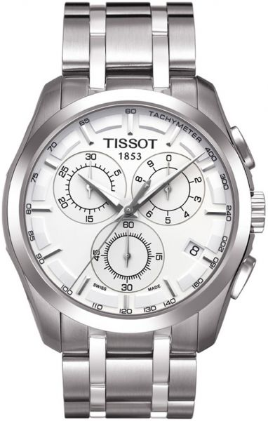 3706e9df9 Tissot Men's White Dial Metal Band Watch - T035.617.11.031.00