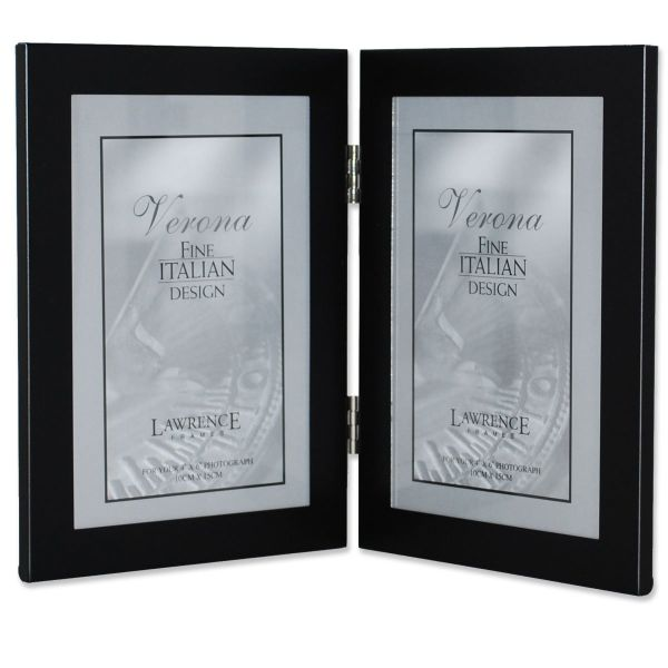 Souq | Lawrence Frames Black Hinged Double Metal Picture Frame 4 by ...
