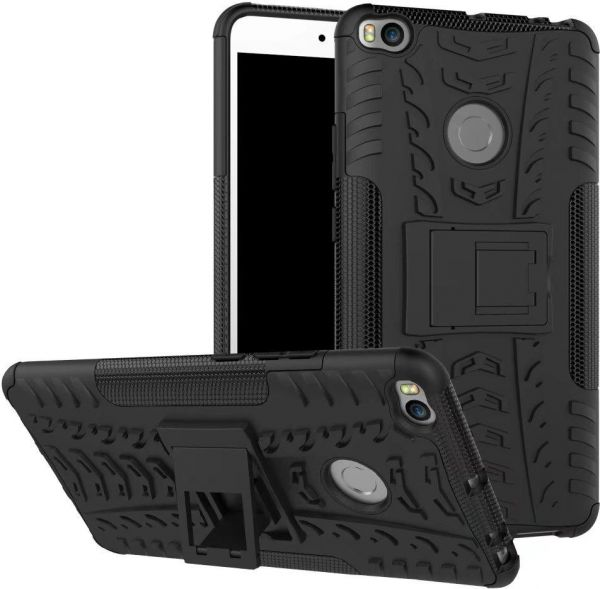 huge discount 6bfbe 86596 Xiaomi Mi Max 2 -Hybrid TPU Armor Silicone Rubber Hard Back Impact Stand  Case Cover Black