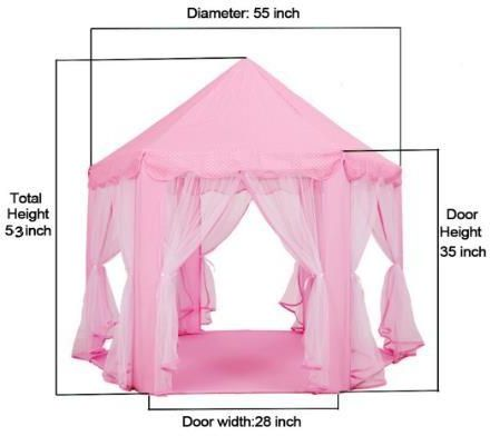 Large Indoor and Outdoor Kids Play House Pink Hexagon Princess Castle Kids Play Tent Child Play Tent | Souq - UAE  sc 1 st  Souq.com & Large Indoor and Outdoor Kids Play House Pink Hexagon Princess ...