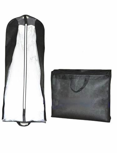 Souq | New Breathable Wedding Gown Formal Dress Garment Bag Hanging Folding Portable Cover Bags ...