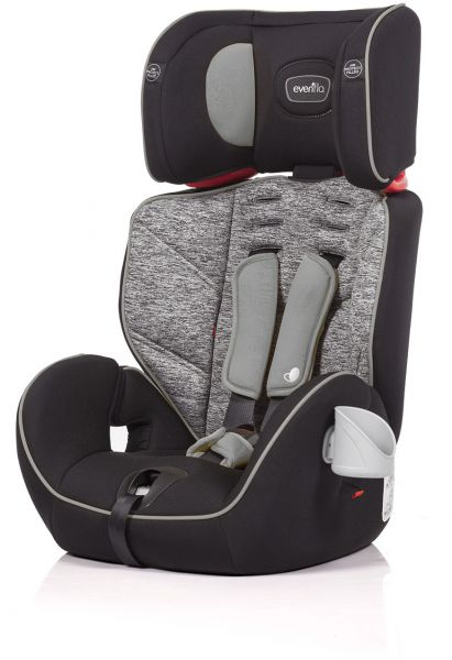 Evenflo Theron 3In1 Booster Car Seat Black Granite