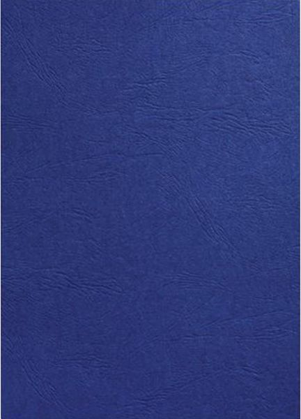 gbc 107sce040025 a4 leather grain binding covers 250 gsm navy blue