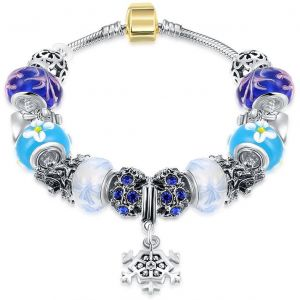 European style Bracelet For Women With Blue Glass Beads,PDRH041