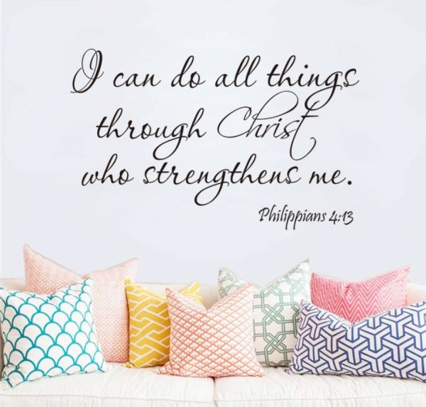 Religious Wall Quote Letters I Can Do All Things Through Christ Diy
