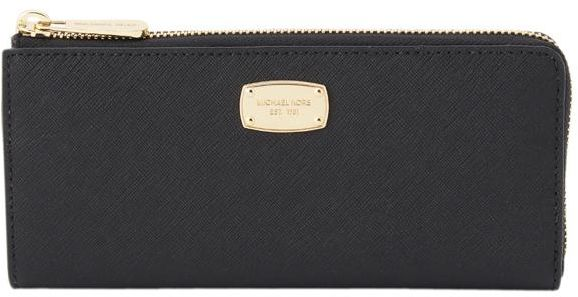 79d8f671170e ... Michael Kors Black Leather For Women - Zip Around Wallets ...