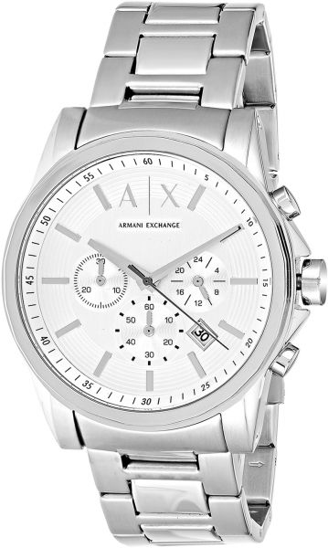 359e0fe6433 Armani Exchange Men s Gray Dial Stainless Steel Band Chronograph Watch -  AX2058