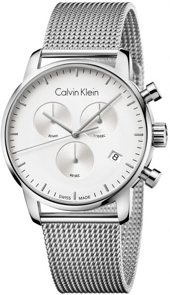 ef684bae91a0 Calvin Klein City Collection Men's Silver Dial Stainless Steel Band Watch -  K2G271-26