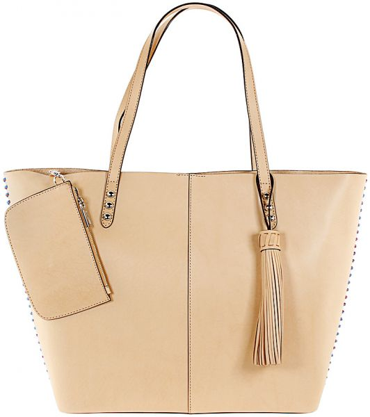 Rebecca Minkoff Unlined Tote Bag For Women Leather Natural