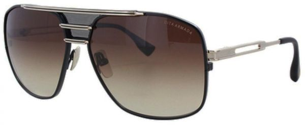 a235f234b65b DITA Armada DRX-2045-B Gold-brushed   Black Aviator Sunglasses with ...