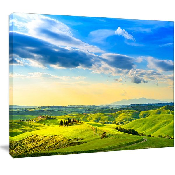 Design Art PT13070-48-28 Colorful Tuscany Countryside Farm ...