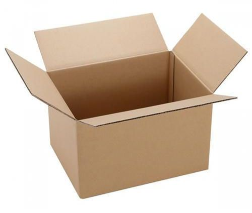 brown cardboard corrugated box for packaging size 37x47x59 cm