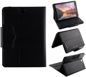 Samsung Galaxy Tab S3 SM-T820 / SM-T825 - Separable Smart Wireless Bluetooth keyboard case Cover Set Black
