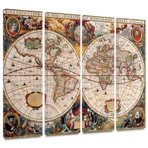 Sale on national world map 24x36 buy national world map 24x36 henricus hondius a new and accurate map of the world 4 piece gallery wrapped canvas 24 by 36 set map01 24x36 4set w gumiabroncs Images